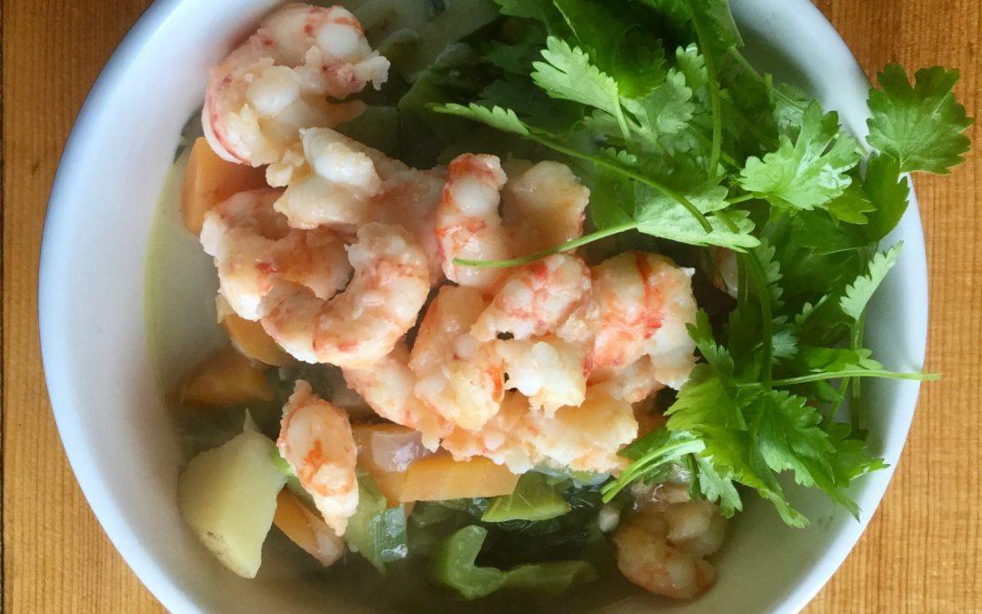 Thai-inspired Shrimp Soup